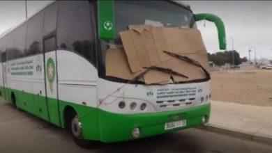 Photo of حافلة فريق نجم أنزا في وضعية كارثية واستياء كبير للجماهير